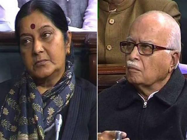 आज संसद में जब सुषमा स्वराज ने ये कहा तो रो पड़े आडवाणी