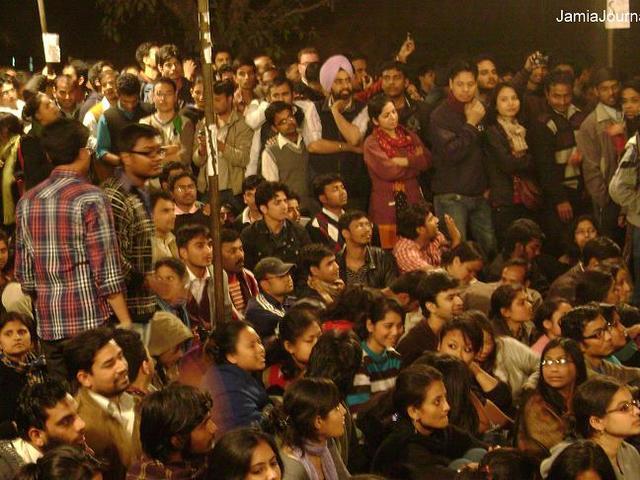 जामिया, जेएनयू के छात्रों ने किया प्रदर्शन