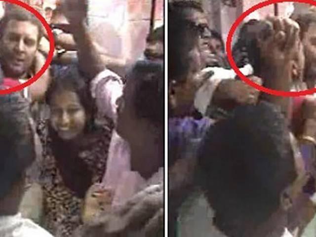 …इस बार राहुल के गाल पर पुरुष समर्थक का गहरा चुंबन!