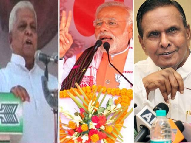 कांग्रेस के बेनी प्रसाद वर्मा और जेडीयू के शकुनि चौधरी की मोदी पर अभद्र टिप्पणी