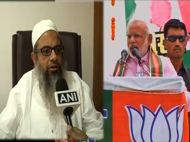 मोदी के समर्थन में आए मुस्लिम धर्म गुरु महमूद मदनी, टोपी नहीं पहनने का भी किया बचाव