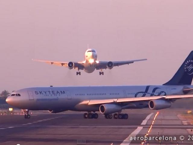 Nerve-wracking near miss: 2 planes almost collide at Barcelona Airport