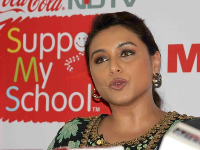 Rani Mukerji campaigns for Support My School