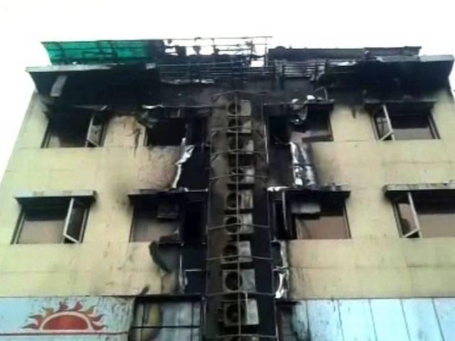 Fire at a hotel in Vashi today early morning