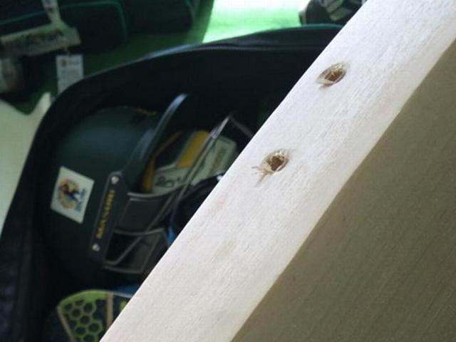 International's bat drilled by customs