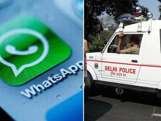 Delhi police getting complains on their whatsapp help line