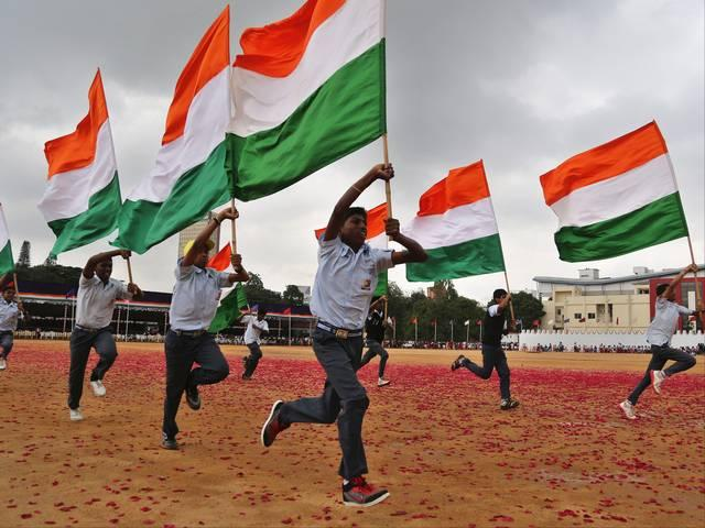 Indian celebrating independent day