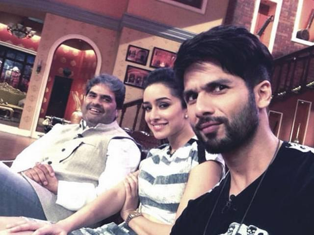 Shahid kapoor shooting for haider promotion on comedy nights