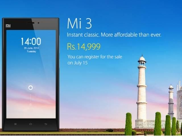 xiaomi mi3 sold out with mere second
