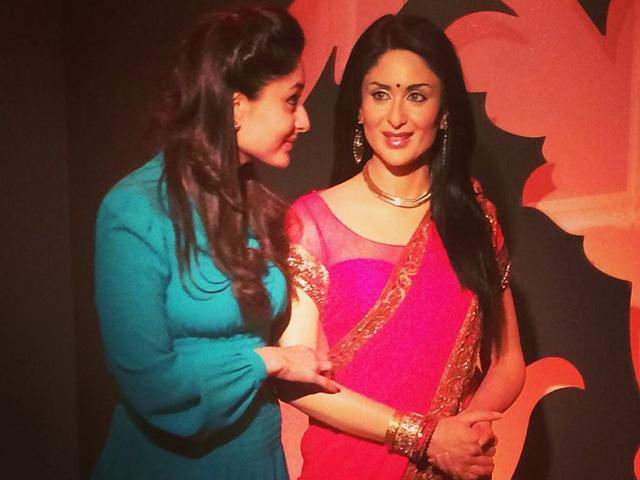 Kareena Kapoor gives the seal of approval to her newly styled wax figure