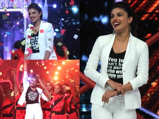 Priyanka chopra reached on jhalak set to promote Mericom