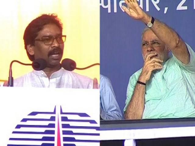After Hooda, Jharkhand CM Hemant Soren booed at in presence of PM Narendra Modi
