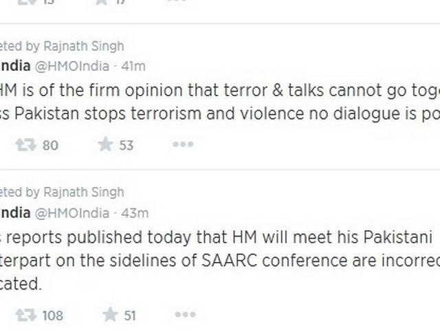 No talks with Pakistan Home Minister on SAARC summit: Rajnath