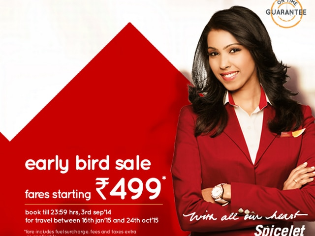 SpiceJet Rs 499-offer a hit;bookings cross 1-lakh mark on Day1
