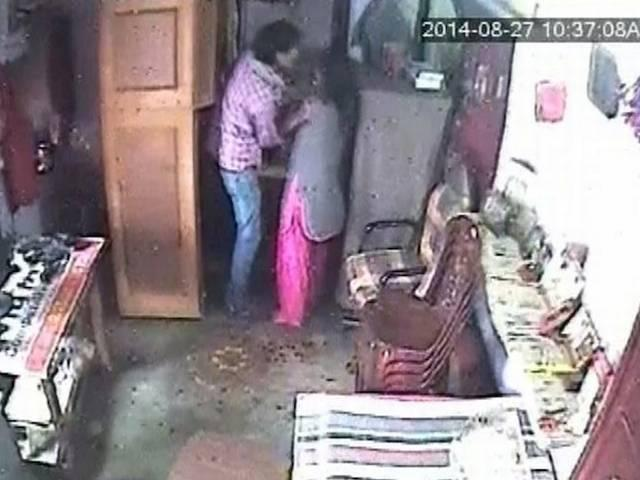 haridwar cctv criminal attack on woman