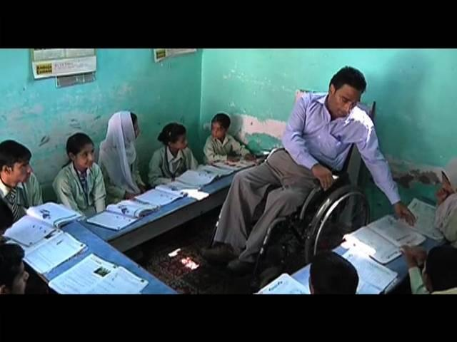 javed teach challenged students