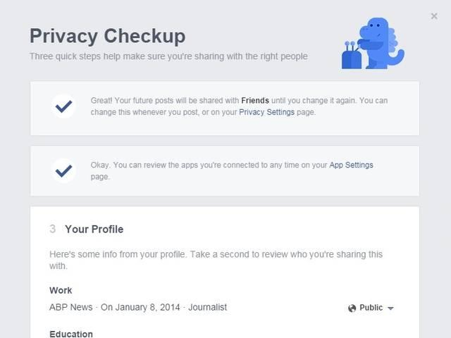 Facebook introduces 'privacy checkup' new tool