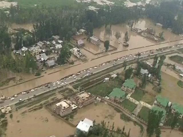 who is responsible for flood in jammu and kashmir?