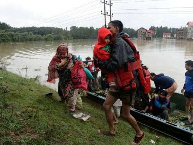 improvement in flood condition in Jammu and Kashmir
