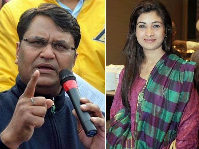 AAP leader AlkaLamba filed complaint against Vinod Kimar Binni