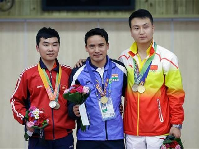 Indian shooter Jitu Rai wins gold medal in 50m pistol men's event of the 17th Asian Games
