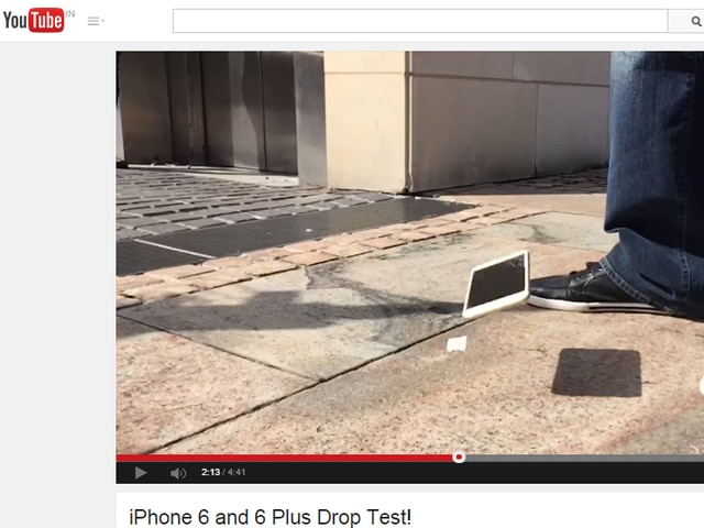 i phone 6 and i phone 6 drop test