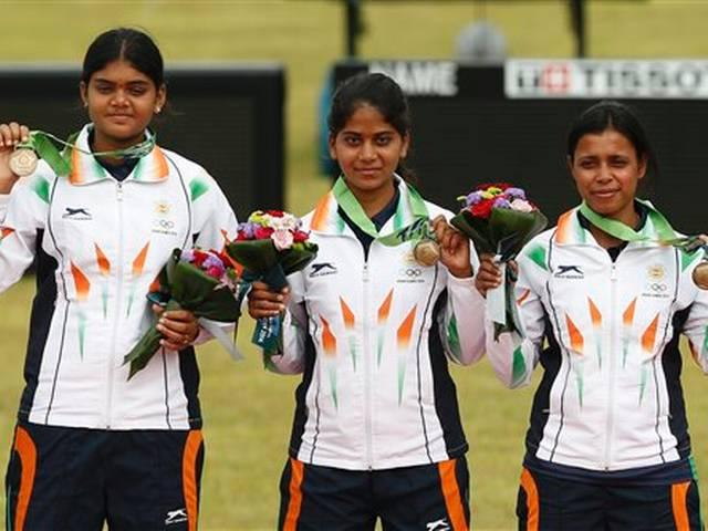 Indian compound womens archery team wins  a bronze