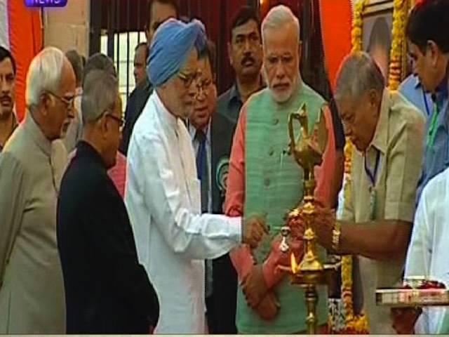 PM modi join Dussehra celebration