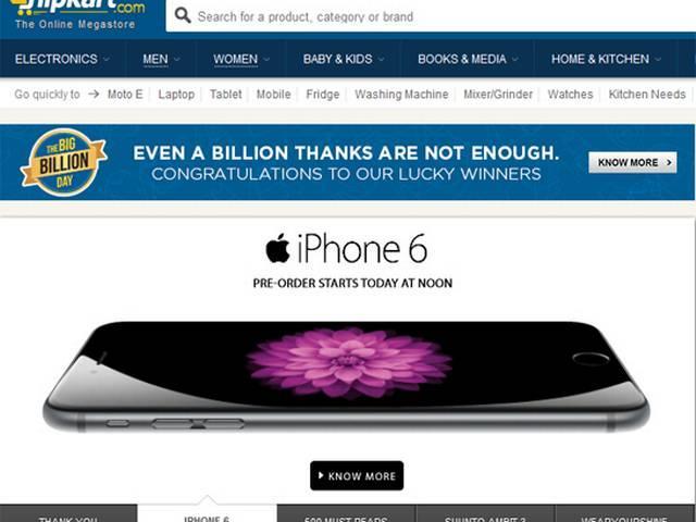 A day after Big Billion Day, Flipkart begins pre-booking for iPhone 6