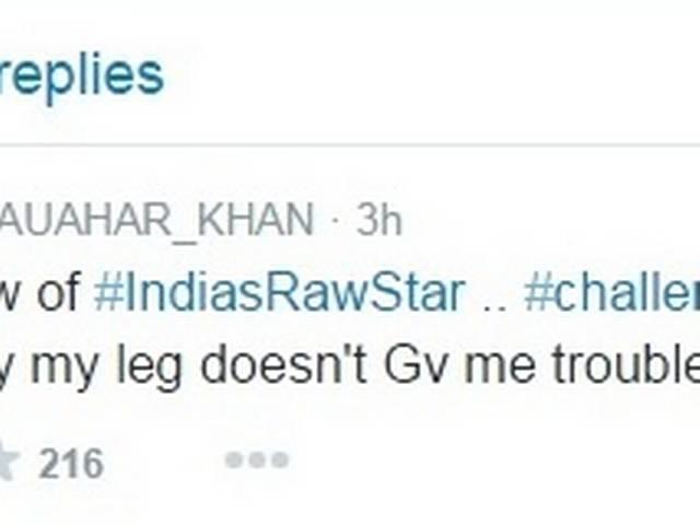 gauhar khan injured
