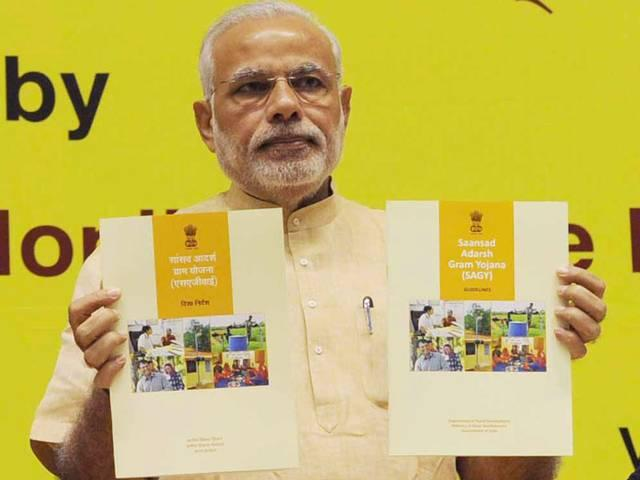 PM launches Saansad Adarsh Gram Yojna