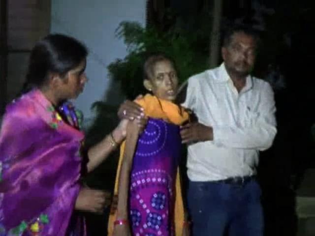 woman beaten by husband