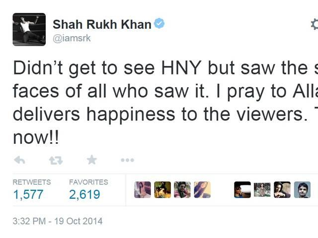 shahrukh expect people will like happy new year