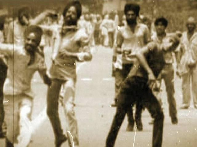 riots after indira death