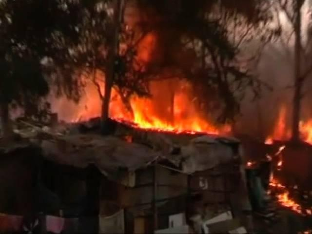 fire in defence colony