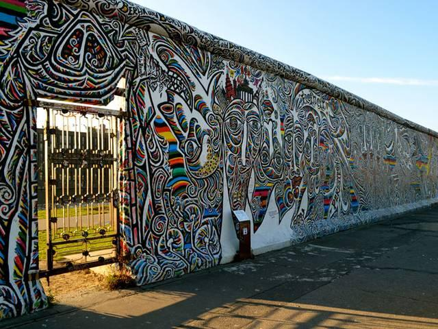 Collapse of the Berlin Wall is celebrating by Germanyafter 25 years