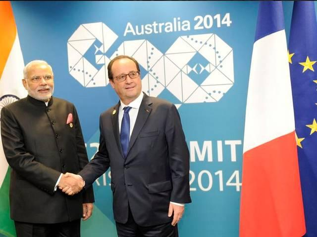 need for an universal strategy to fight terrorism says modi to France Hollande