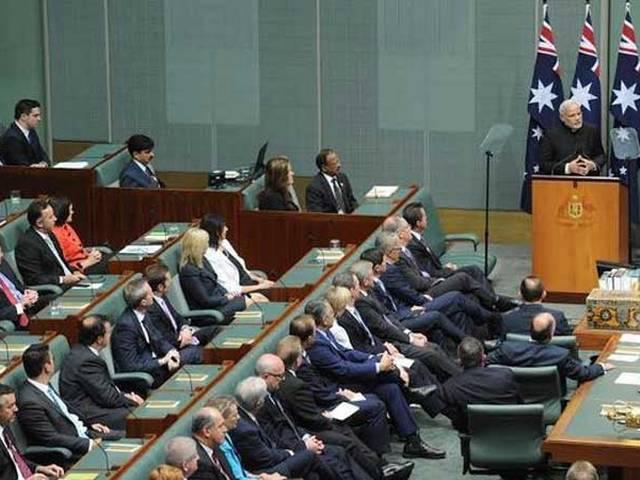 Canberra: PM Modi addresses Australian Parliament, seek enhanced economic partnership, says terrorism has become a major threat.