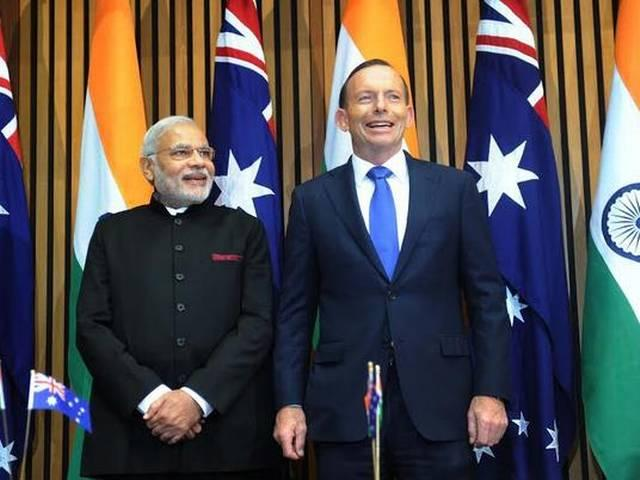 Canberra: PM Modi held talks with Australian PM Tony Abbott, Abbott says If all goes well Australia will export uranium to India under suitable safeguards