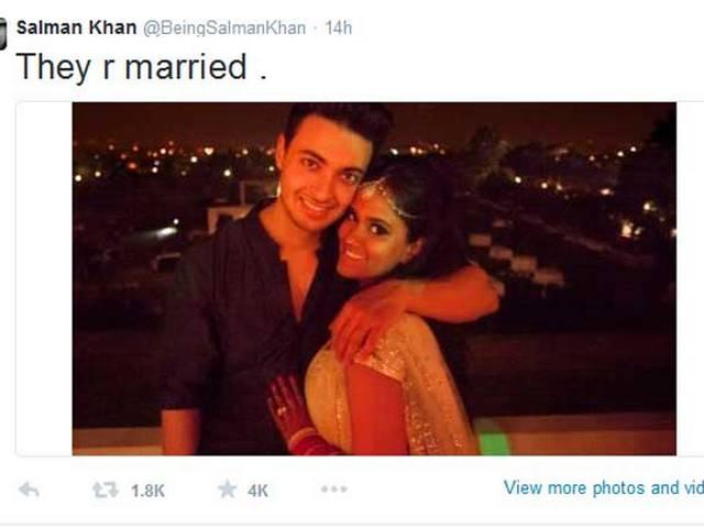 Now they can do wat ever they want to do, Salman Khan tweeted about Arpita-Ayush
