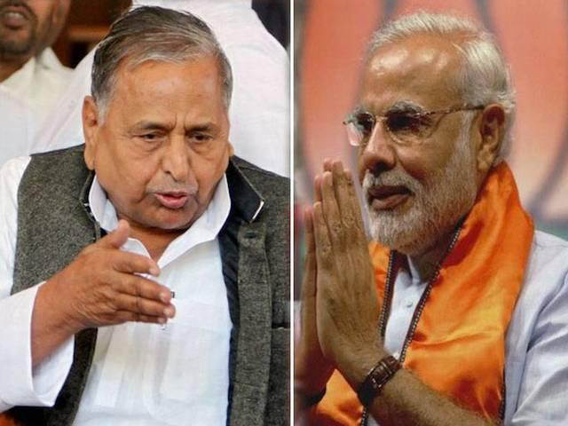 narendra modi extends his greeting to mulayam singh on his 75 birth day