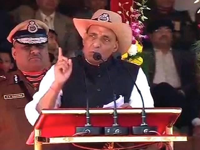rajnath singh applauds bsf, asks to curb cow smuggling on indo bangladesh border