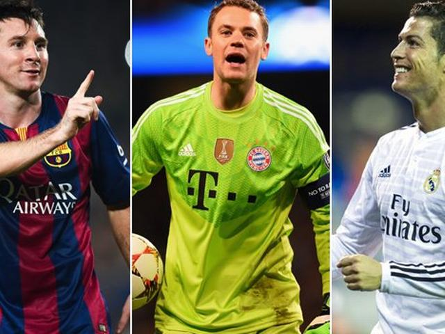 Cristiano Ronaldo, Lionel Messi & Manuel Neuer on Ballon d'Or list