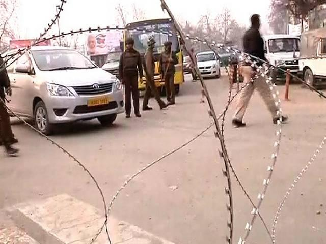 grenade attack at polling booth in jammu kashmir