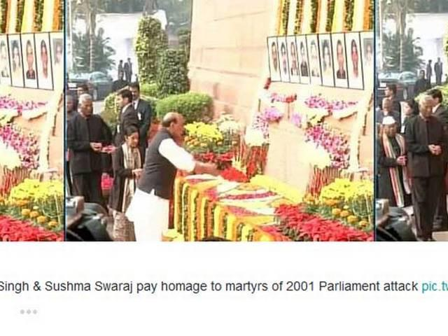 PM Modi pays tribute to martyrs of 2001 parliament attack