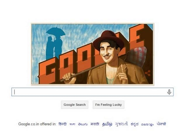 Google doodle celebrates actor Raj Kapoor's 90th birthday