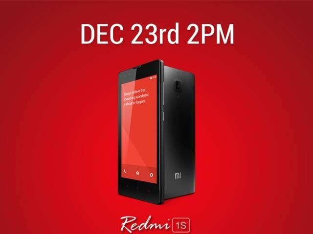 Xiaomi Redmi 1S to Go on Sale on December 23, Says Barra