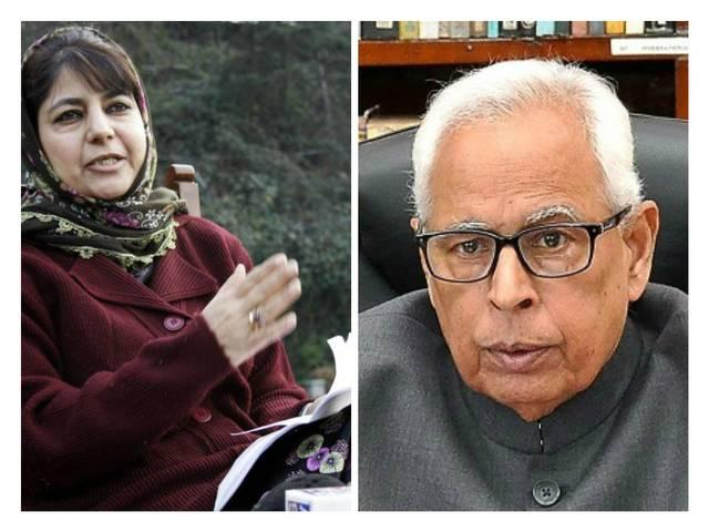 jammu and kashmir government formation: mehbooba mufti to meet state's governor nn vohra