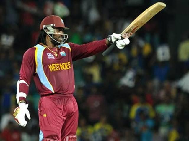 gayle wins the second t20 match for west indies