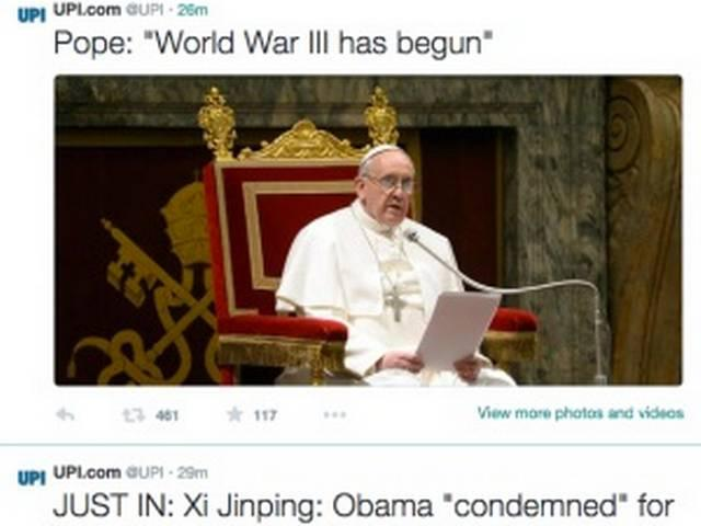 Twitter Hackers Announce Start of World War III